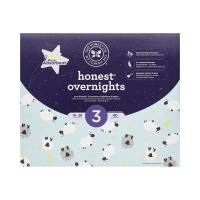 Honest Overnight Baby Diapers, Club Box, Sleepy Sheep, Size 3,...